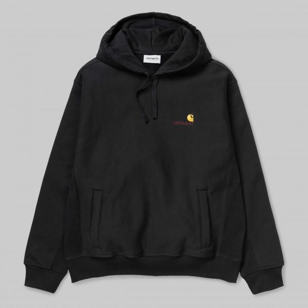 Carhartt WIP Hooded American Script Sweater Black Herren i027041,89,00
