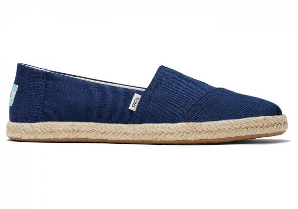 TOMS Womens Navy Canvas Alpargata Rope 10016255