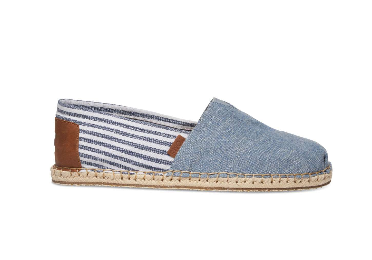 43b0a8439c4 TOMS Mens Chambray Stripe Blanket Canvas Classic 10008349