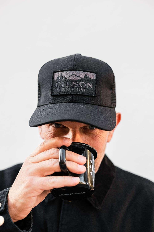 Filson Logger Mesh Cap Black Men