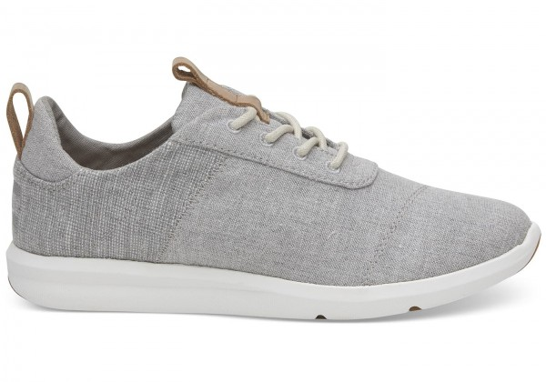 TOMS Womens Drizzle Grey Chambray Cabrillo Sneaker Canvas 10011751