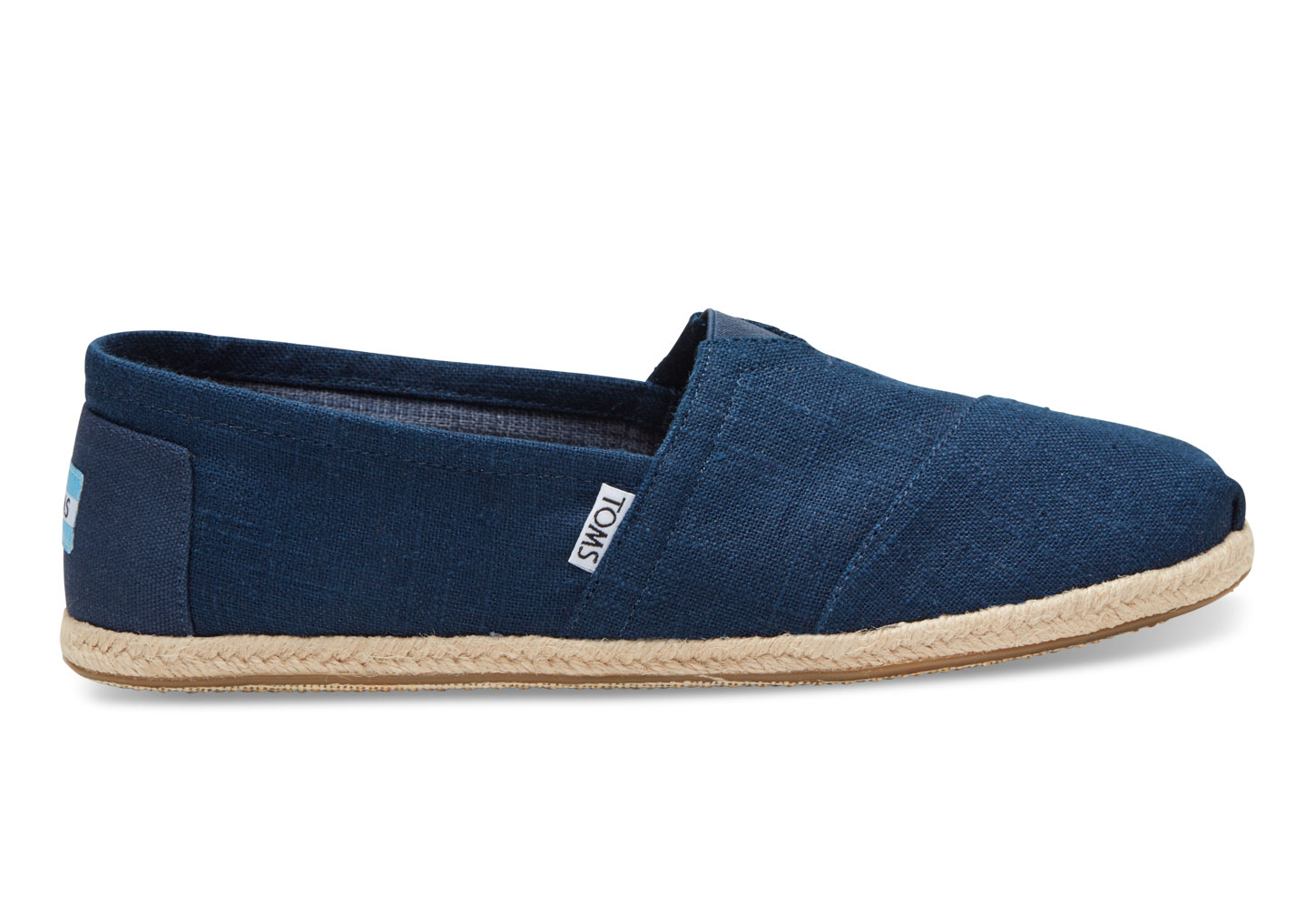 8ce7edf1252 TOMS Mens Navy Linen Rope Sole 8553