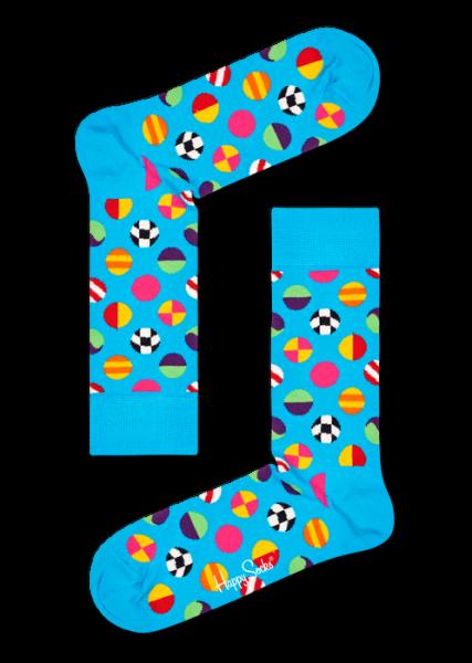 Happy Socks Womens Clashing Dot Sock Hellblau 36-40