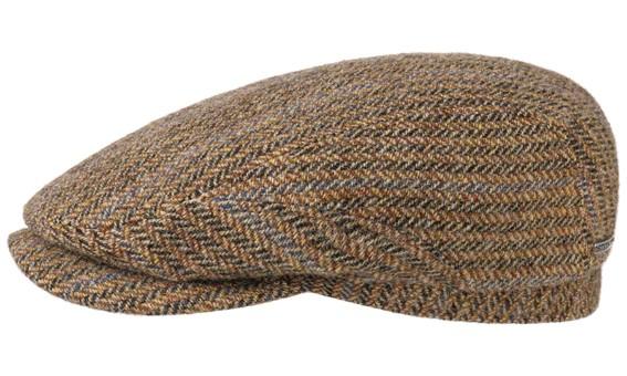 Stetson Driver Cap Virgin Wool Herringbone Light Brown 6380506 367