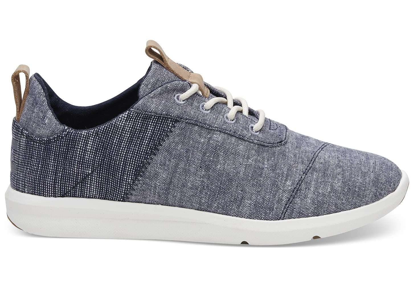 d2ee686609bad TOMS Womens Navy Chambray Cabrillo Basketweave Sneaker Canvas 10011748