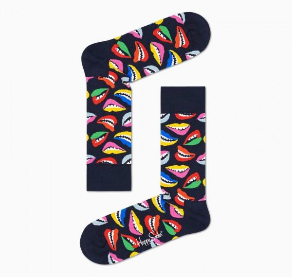 Happy Socks Women's Lip Sock Blue 36-40 LIP01-6500 LIP01-6500