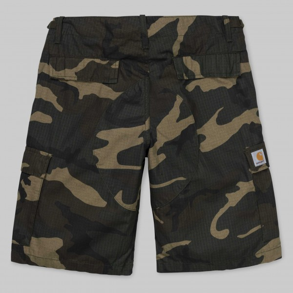 Carhartt Aviation Short Camo Laurel Rinsed i009758,640,02