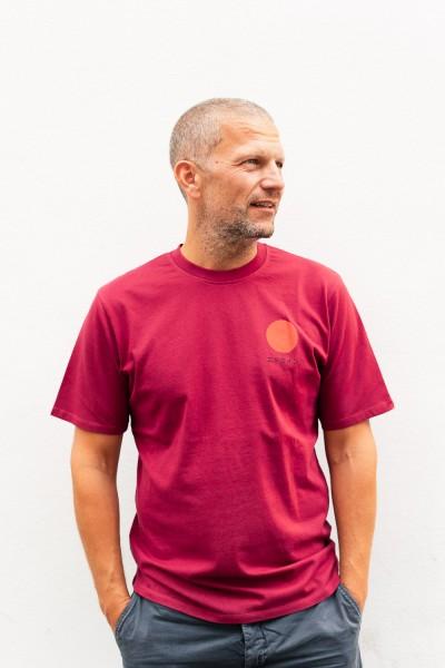 Edwin Japanese Sun T-Shirt Plum Pie Garment Washed