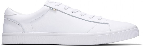 TOMS Mens Carlson White Leather 10015882