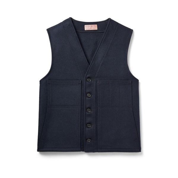 Filson Mackinaw Wool Vest Navy 11010055