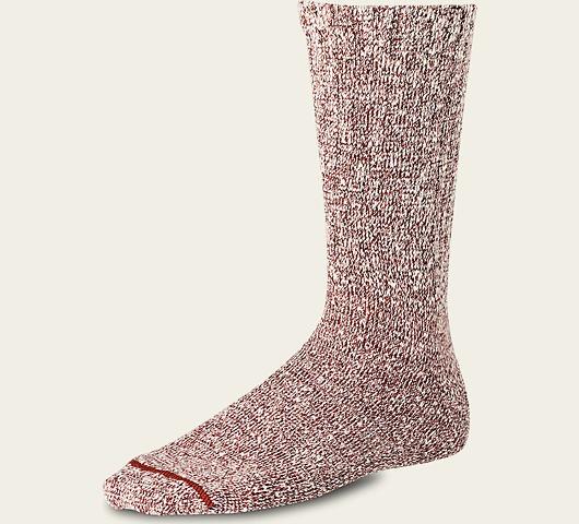 Red Wing Socks 97169 Cotton Rag Crew Socks Rust / US 6-9