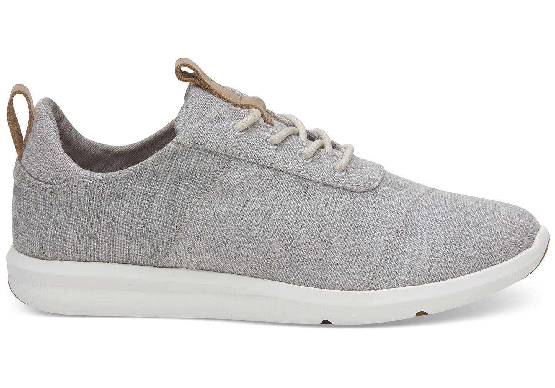 TOMS Womens Drizzle Grey Chambray Cabrillo Sneaker Canvas