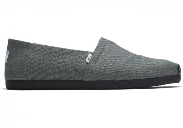 TOMS Mens Bonsai Green Canvas Alpargata 10015282