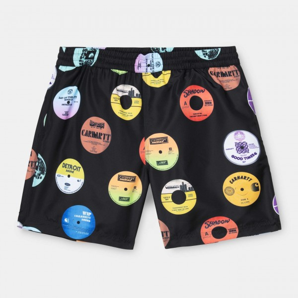 Carhartt WIP Drift Swim Trunks Black Record Print I015812 - 09U.00