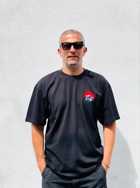 edwin red dawn t-shirt black garment washed