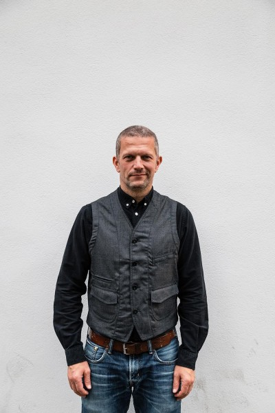 Scarti Lab Wool Vest black chambray 403 SE264