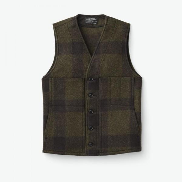 Filson Mackinaw Wool Vest Forest Green Brown 11010055