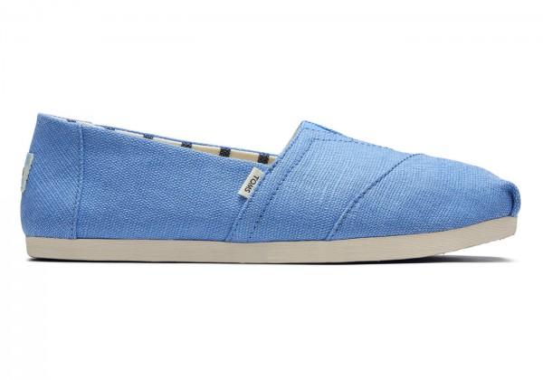 TOMS Womens Azure Blue Alpargatas 10016521