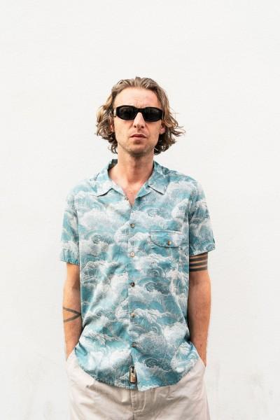 Scarti Lab Cotton Shirt Waves Blue 336-SL413