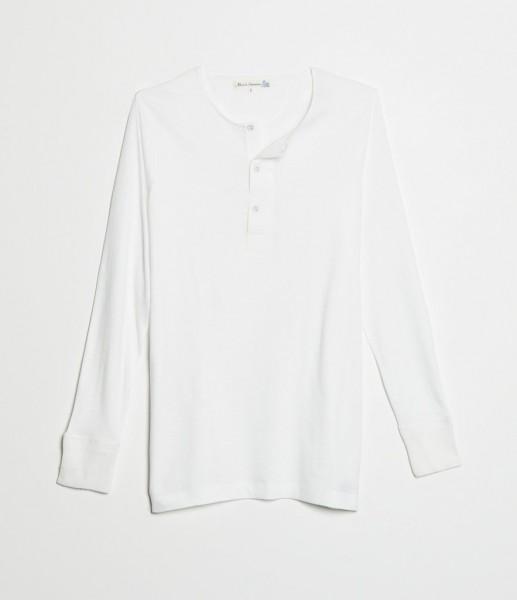 Merz b. Schwanen 102 Button Border Shirt White Herren
