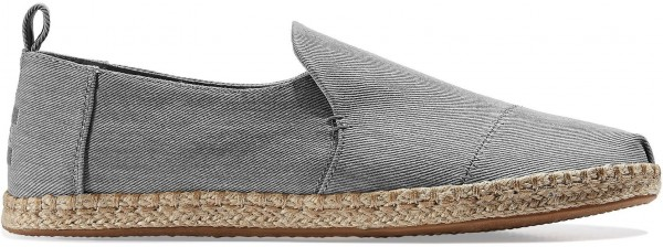 TOMS Mens Drizzle Grey Eco Dye Deconstructed 10016279