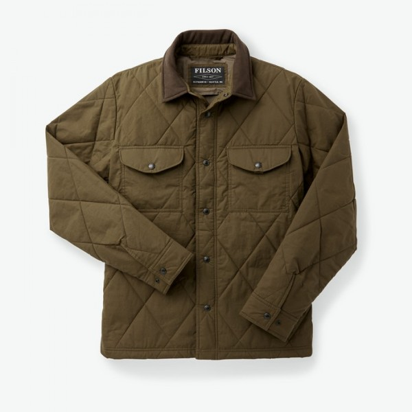 Filson Hyder Quilted Jac-Shirt Marsh Olive 20019390