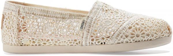 TOMS Womens Natural Moroccan Crochet Alpargatas 10016241