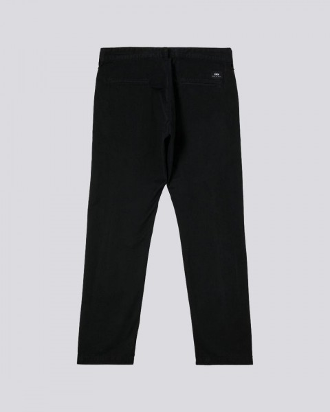 Edwin 55 Chino PFD Light Cotton Twill Black Enzyme Wash Garment Old Dye, 6.8oz, I027884-89EG