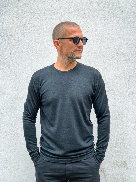 Crossley Haliot Knit Crew Neck LS Dunkelgrau 900SW