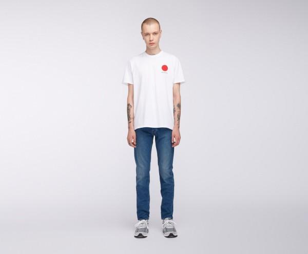 Edwin Japanese Sun T-Shirt White Garment Washed i025020,02,67