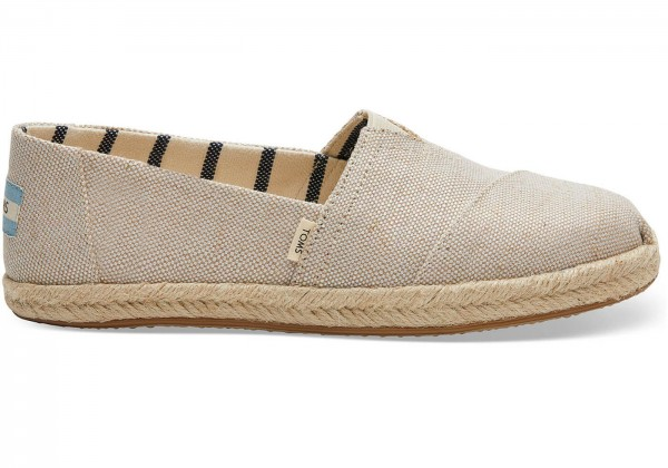 TOMS Womens Natural Pearlized Mettalic Canvas Alpargata Rope 10013508