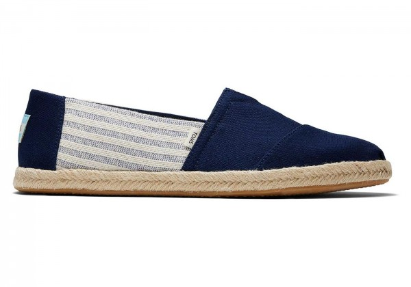 TOMS Mens Navy University Rope Sole 10016289