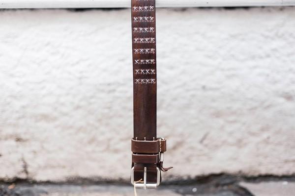 Dukes Belt 1000 Stars 4cm Belt Braun/Silver 3601294