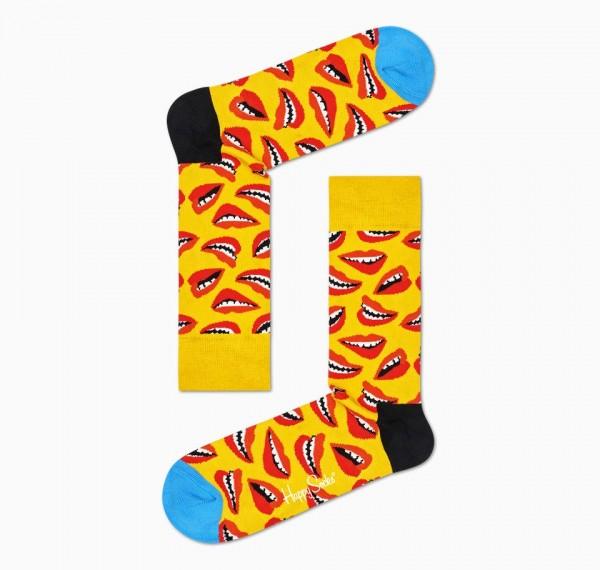Happy Socks Women's Lip Sock Yellow 36-40 LIP01-2200