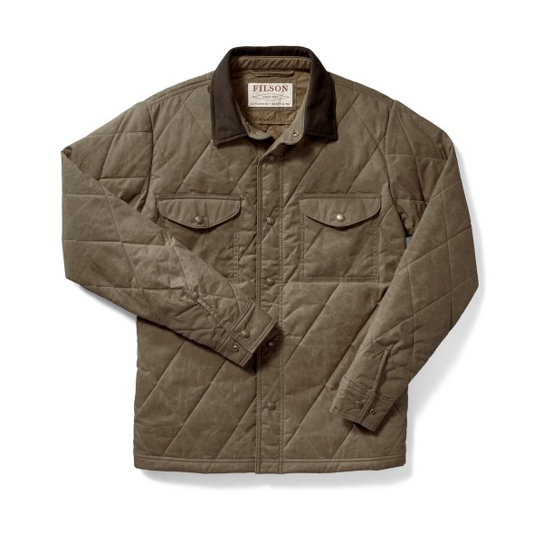Filson Hyder Quilted Jacket Shirt Tan 20019390