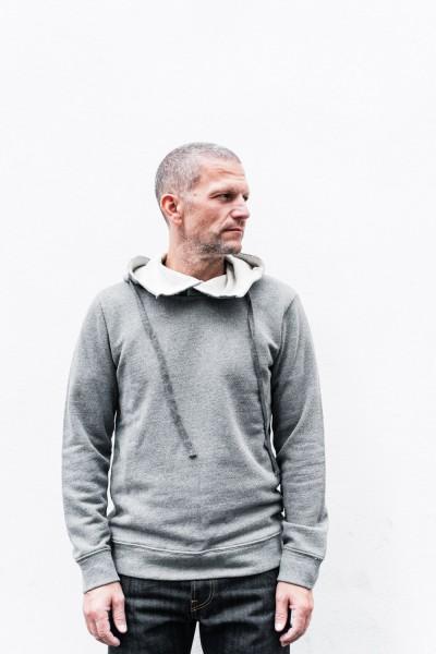Crossley Man LS Thinx Hoodie Sweater Grau FW20 8517