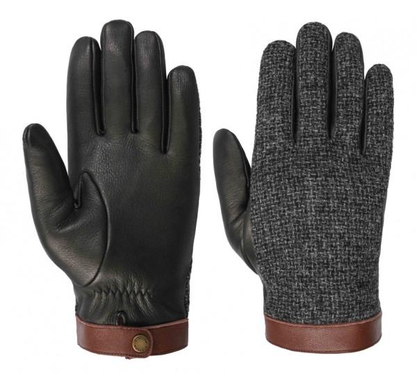 Stetson Gloves Deer / Wool Black