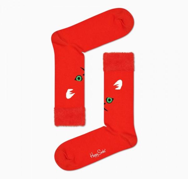 Happy Socks Mens Hairy Animal Socks Red 41-46 HRY01-4300