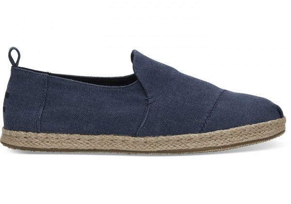 TOMS Mens Navy Washed Deconstructed 10011623