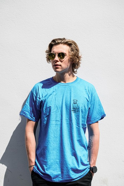 Arnold's Blossom T-Shirt Light Blue Washed ss20