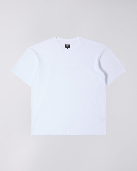Edwin Katakana Embroidery T-Shirt Cotton White I026745.02.TT.03