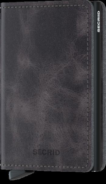Secrid Slimwallet Vintage Schwarz Grau
