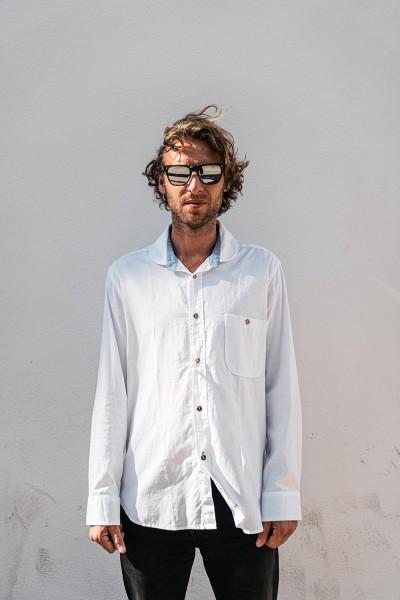 Scarti Lab Cotton Shirt White Plain Weave