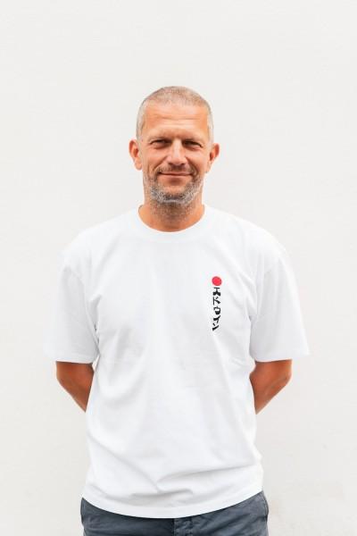 Edwin Kamifuji T-Shirt Cotton White Garment Washed