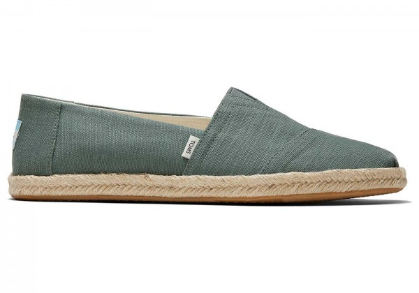 TOMS Mens Bonsai Green Woven Rope Sole 10016283