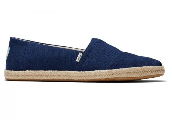 TOMS Mens Navy Canvas Alpargata Rope 10016271