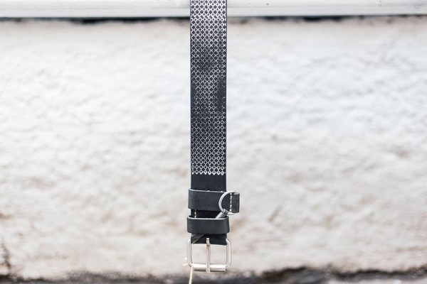 Dukes Belt Durvuljin 4cm Belt Black Silver 9612468
