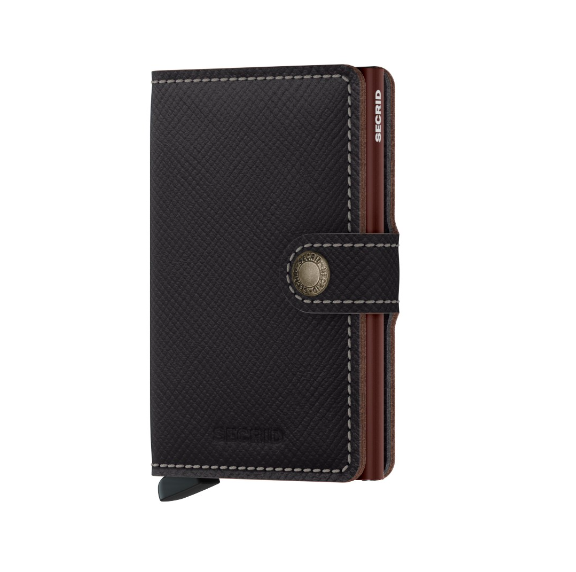 Secrid Miniwallet Saffiano Brown MSa-Brownv