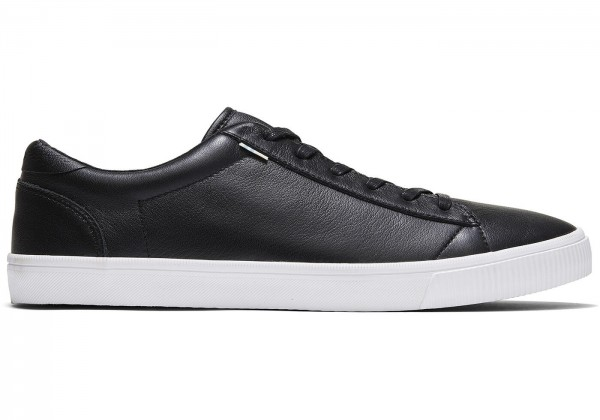 TOMS Mens Carlson Black Leather