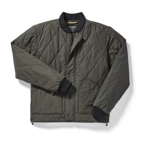 Filson Quilted Pack Jacket Dark Otter Green 20019781